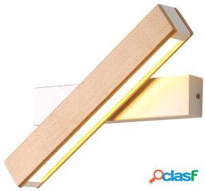 Wellindal Lámpara aplique wooden & metal rotation-blanco y