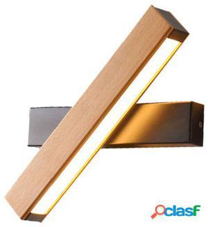 Wellindal Lámpara aplique wooden & metal rotation-negro y