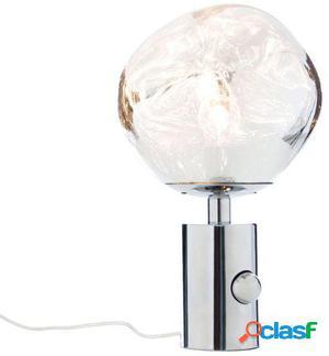Wellindal Lámpara de sobreMesa melty -cromo 27x27x43