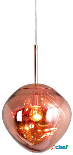 Wellindal Lámpara de suspensión melty 27-cobre 27x27x24