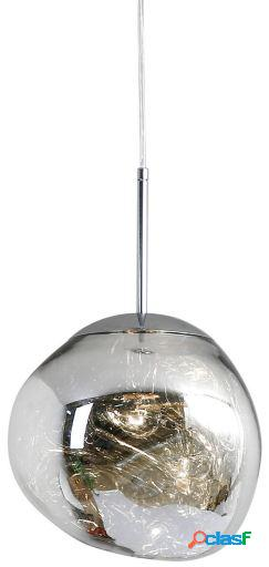 Wellindal Lámpara de suspensión melty 27-cromo 27x27x24