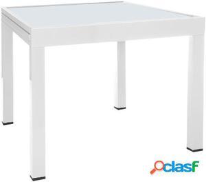Wellindal Mesa Extensible Thais Aluminio Blanco