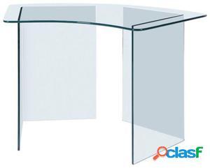 Wellindal Mesa de escritorio gler -curved--cristal