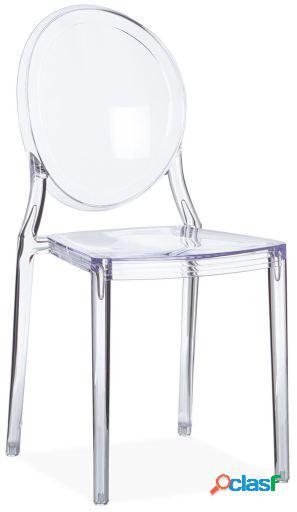 Wellindal Silla adele-transparente inspiración victoria
