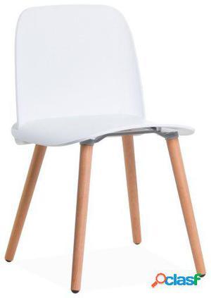 Wellindal Silla aura wooden-blanco 48x48x76