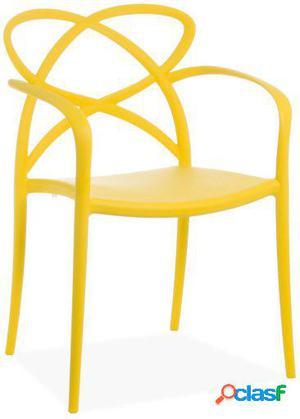 Wellindal Silla maestro-amarillo 58x51x82