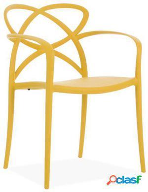 Wellindal Silla maestro-amarillo ocre 58x51x82