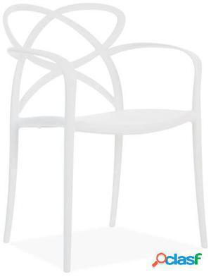 Wellindal Silla maestro-blanco 58x51x82