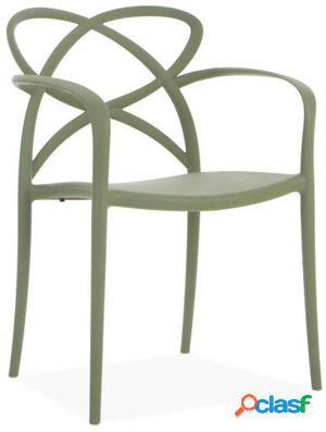 Wellindal Silla maestro-gris verdoso 58x51x82