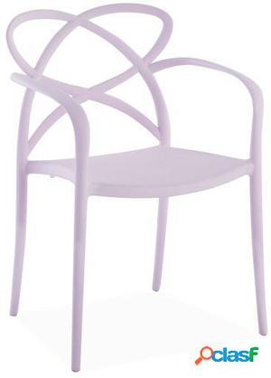 Wellindal Silla maestro-rosa claro 58x51x82