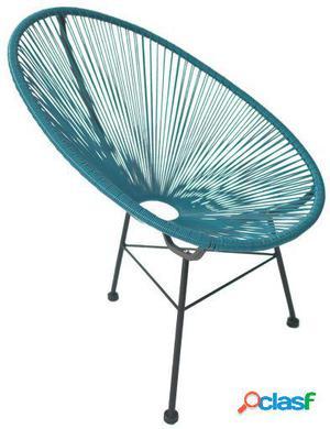 Wellindal Silla mexico -color edition--azul acapulco chair