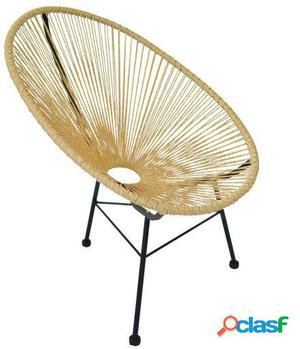 Wellindal Silla mexico -color edition--beige acapulco chair