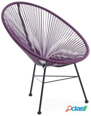 Wellindal Silla mexico -color edition--lila acapulco chair