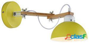Wellindal aplique de pared elmac-amarillo 15x32x12