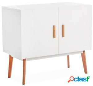 Wellindal mueble auxiliar artika-blanco 80x40x70