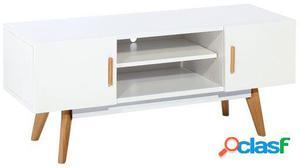 Wellindal mueble de tv arenda-blanco 120x40x45