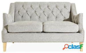 Wellindal sofá de 2 plazas princess-gris claro 146x87x92