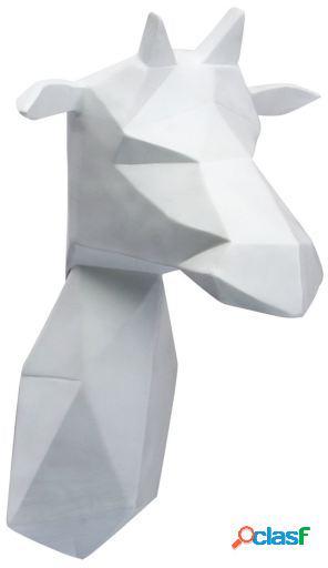 Wellindal trofeo de pared girafe -geometric version--blanco