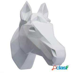 Wellindal trofeo de pared horse -geometric version--blanco