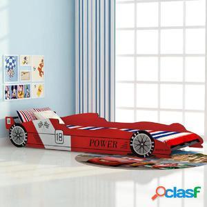 cama para niños estilo coche de carreras 90x200 cm color