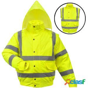 cazadora de alta visibilidad para caballero amarilla talla
