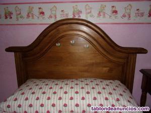 Cabecero de cama de 90 y mesita de noche