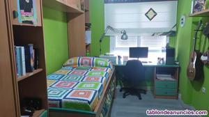 Camas nido y escritorio con zapatero