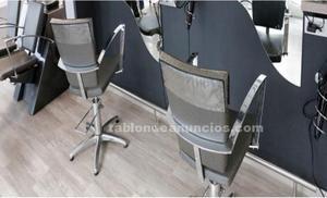 Lavacabezas y sillas de peluqueria