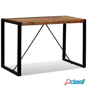 Mesa de comedor de madera maciza reciclada 120 cm