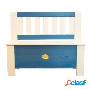 AXI Banco de almacenamiento para niños Moby azul y blanco