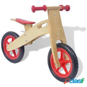 Bicicleta de balance de madera roja
