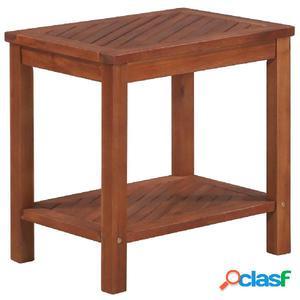 Mesa auxiliar de madera maciza acacia 45x33x45 cm