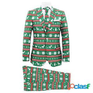 Traje de navidad hombre 2 piezas corbata talla 46 festivo