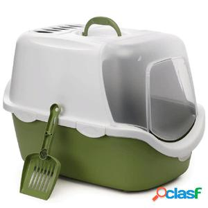 Stefanplast Caja de arena para gatos Cathy Easy Clean verde