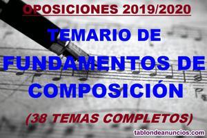 Temario fundamentos de composición oposiciones