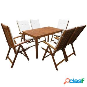 Conjunto de muebles de comedor madera maciza acacia 13