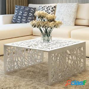 Mesa de centro con diseño calado geométrico aluminio