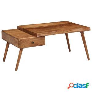 Mesa de centro madera maciza de acacia reciclada 100x60x45