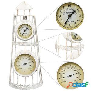 Reloj de pared con termómetro vintage