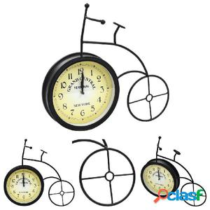Reloj de pared de jardín con forma de bicicleta vintage