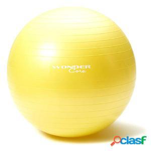 Wonder Core Pelota de gimnasio 75 cm amarilla WOC029 anti