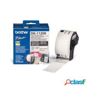 Cinta de etiquetas de papel termico brother dk11208 - blanco