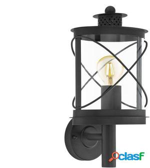 Wellindal Aplique de exterior 1 luz E27 Negro Hilburn