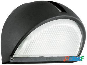 Wellindal Aplique de exterior 1 luz E27 Negro Onja