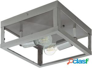 Wellindal Aplique de exterior 2 luces E27 Acero inoxidable y