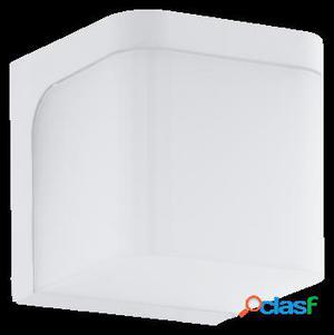 Wellindal Aplique de exterior led 2 luces Acero y Blanco