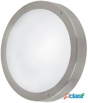 Wellindal Aplique led de exterior Acero inoxidable y Blanco