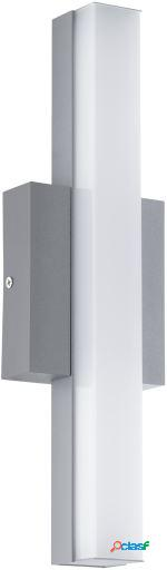 Wellindal Aplique led de exterior Plata y Blanco Acate