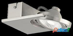 Wellindal Foco Aplique Plafon Led 1 luz níquel mate Brea