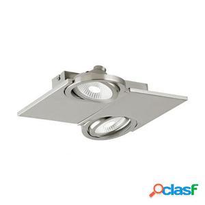 Wellindal Foco Aplique Plafon Led 2 luz níquel mate Brea